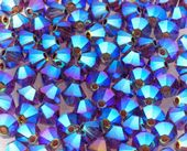 25 x 4mm SWAROVSKI® ELEMENTS Amethyst AB2x  Xilion Beads